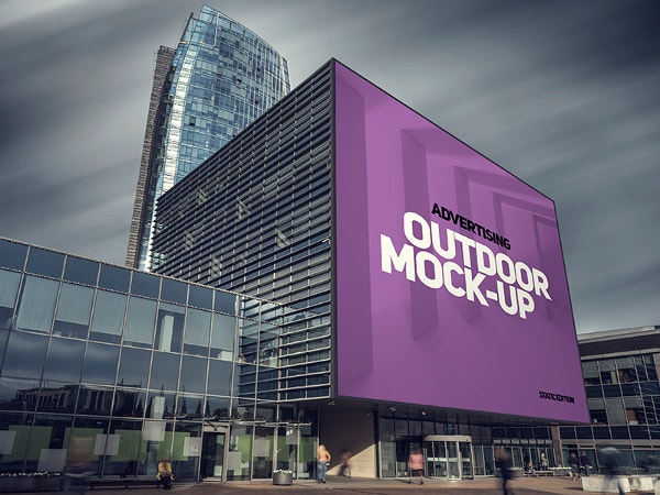 building advertising mockup
