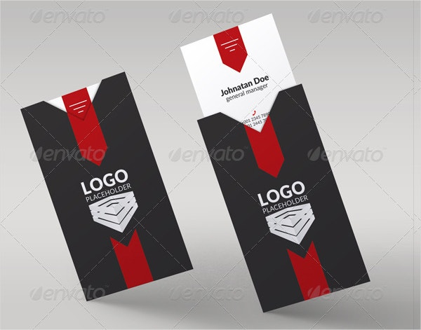 Corporate Folded Business Card Template