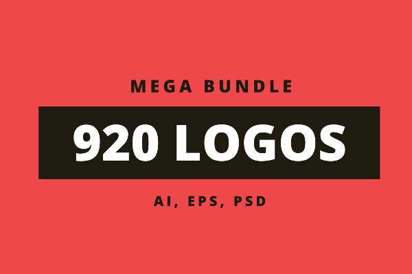 920 Logos Mega Bundle on Creative Market at $29