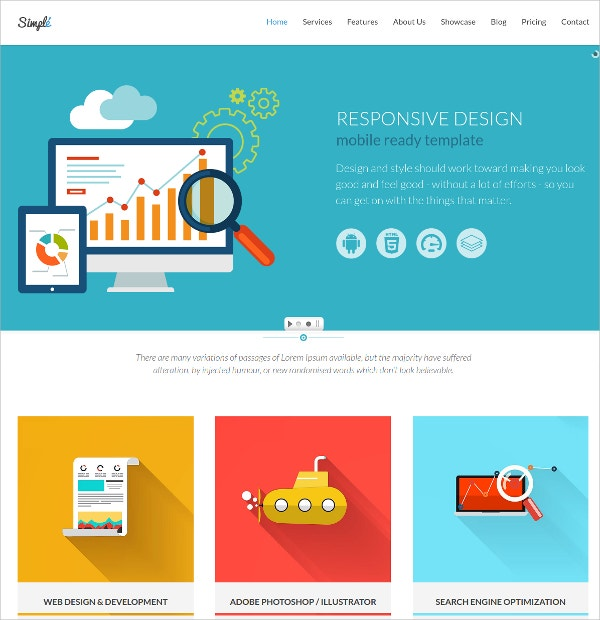 Simple & One Page Bootstrap WordPress Theme $49