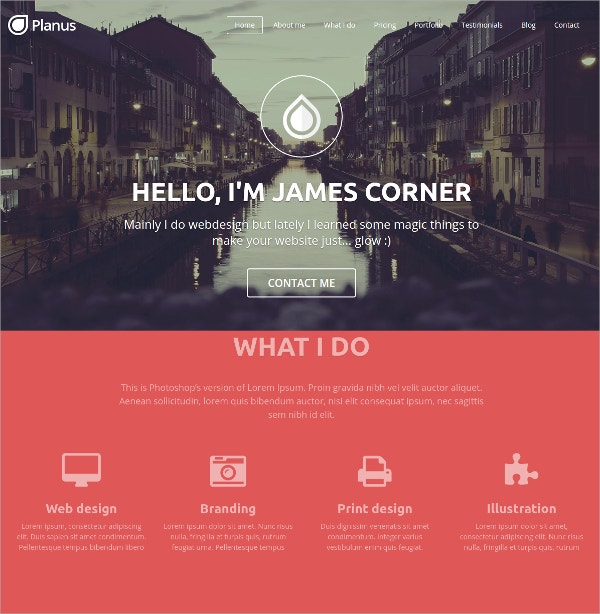 Agency One Page Bootstrap WordPress Theme $29