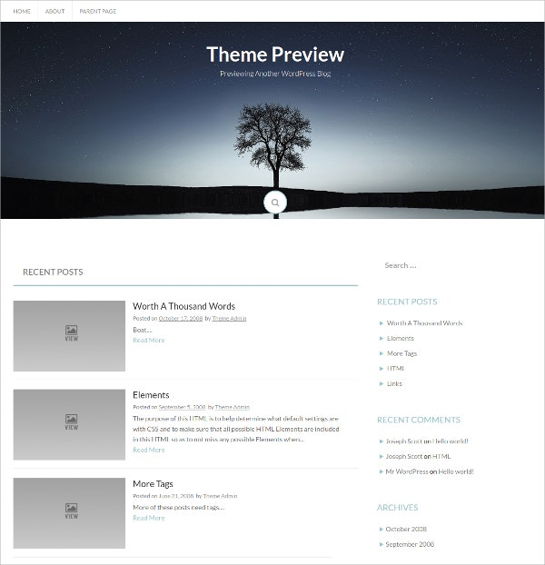 Multipurpose Free Bootstrap WordPress Theme