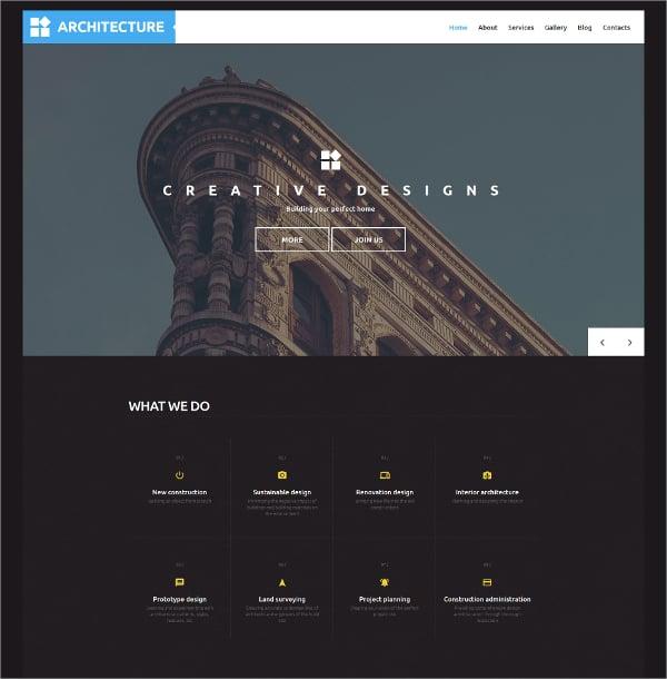 architecture bootstrap wordpress theme 75