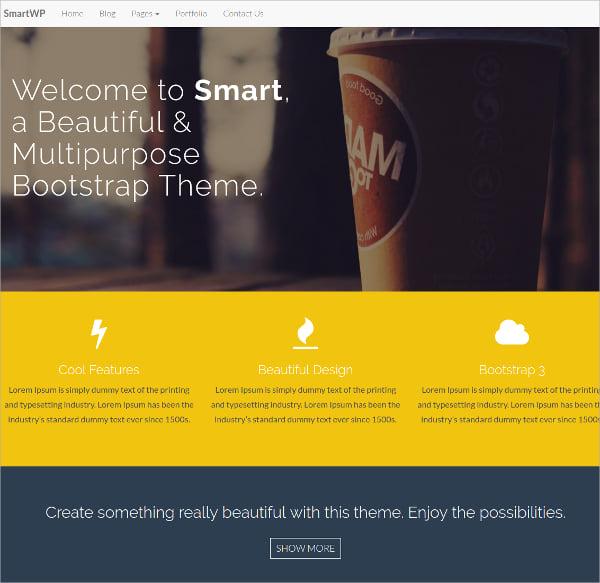 smart bootstrap wordpress theme