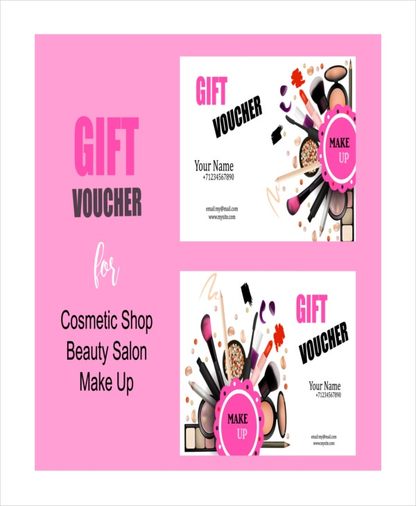 Salon gift certificate template 9 free pdf psd ai for Free beauty gift voucher template