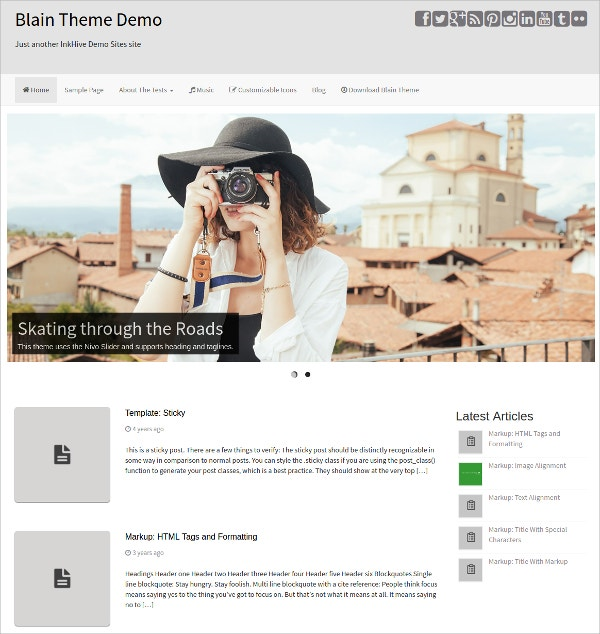 Minimal Responsive Bootstrap WordPress Template
