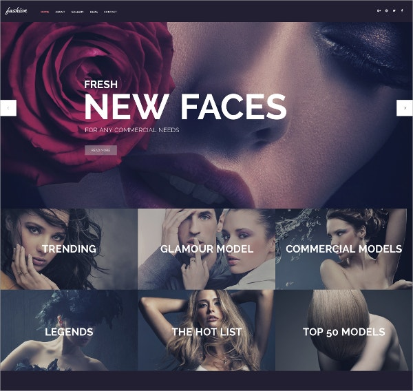 Fashion Bootstrap WordPress Theme $75