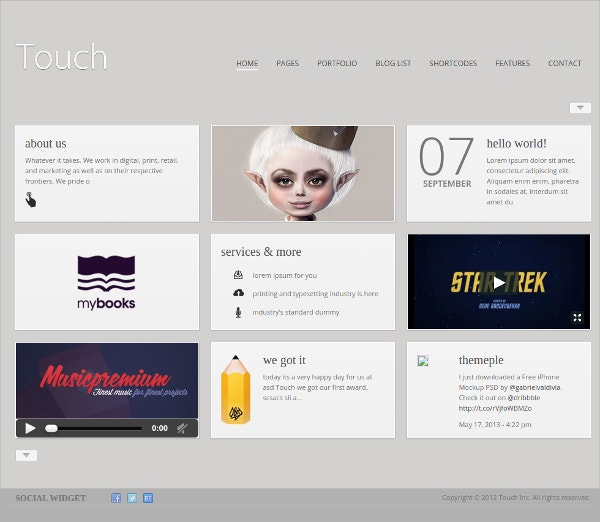 Creative Bootstrap WordPress Theme $44