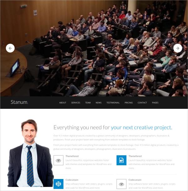 Personal Responsive Bootstrap WordPress Theme $44