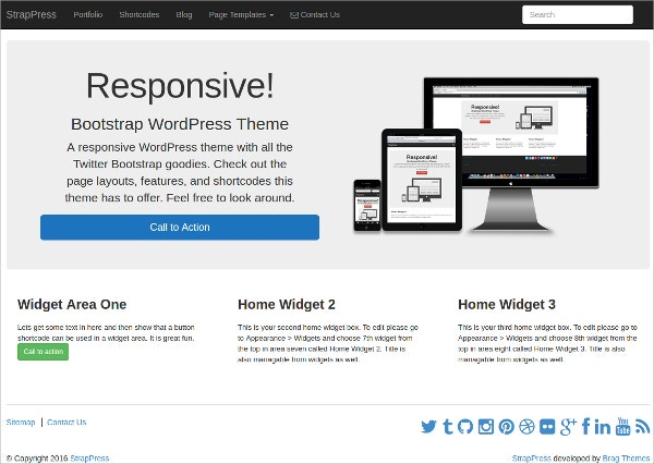 Awesome Bootstrap WordPress Theme