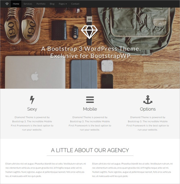 Exclusive Bootstrap WordPress Theme