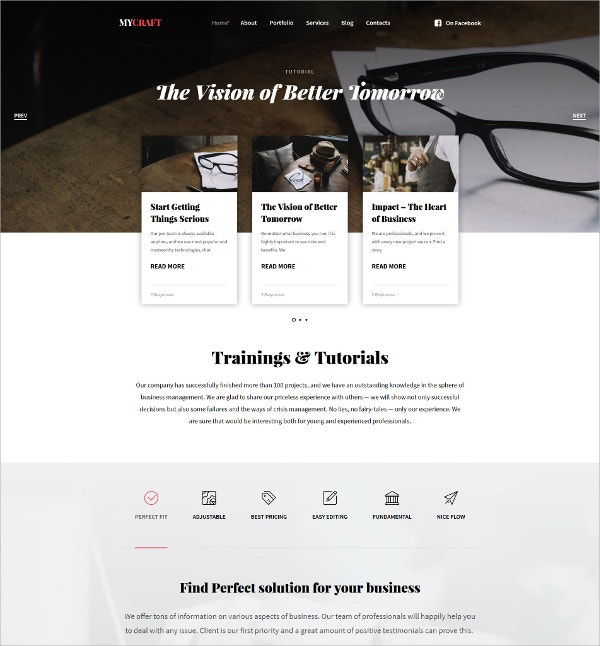 Crafts Responsive Bootstrap WordPress Theme $75