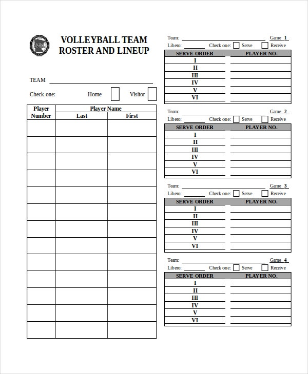21 Roster Form Templates 0 Freesample Example Format