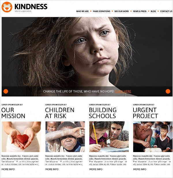 Non Profit & Charity Foundation WordPress Theme $75