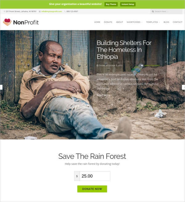 perfect non profit for organizations website theme 69