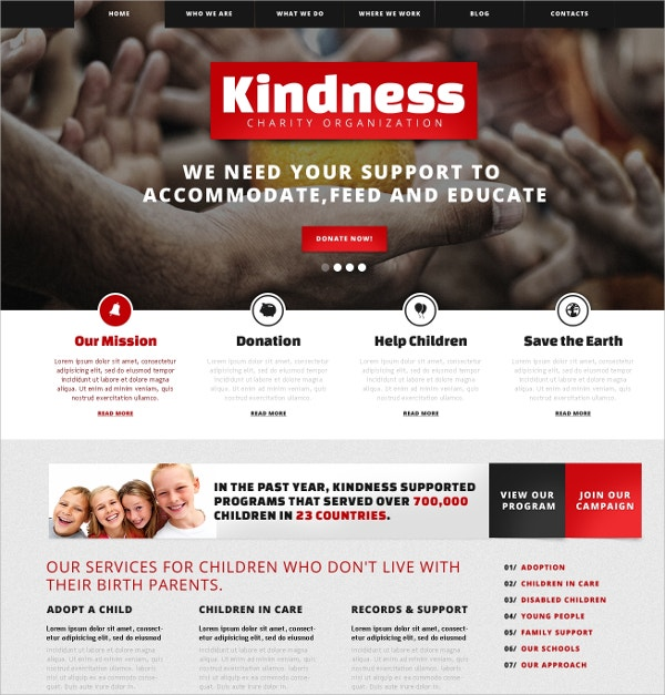 Children Charity, Non Profit WordPress Theme $75