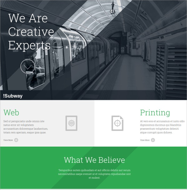 Corporate, Non Profit One Page WordPress Theme $39