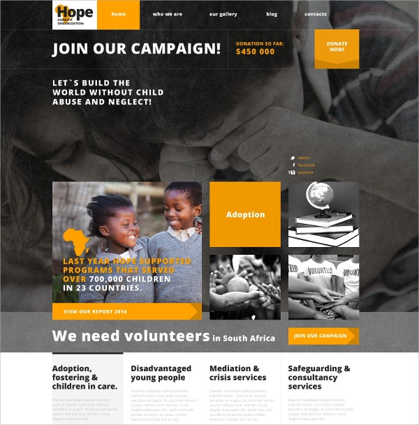charity non profit campaign responsive wordpress theme 75