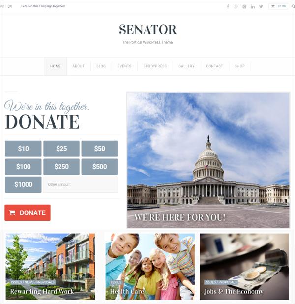 fully responsive non profit wordpress theme