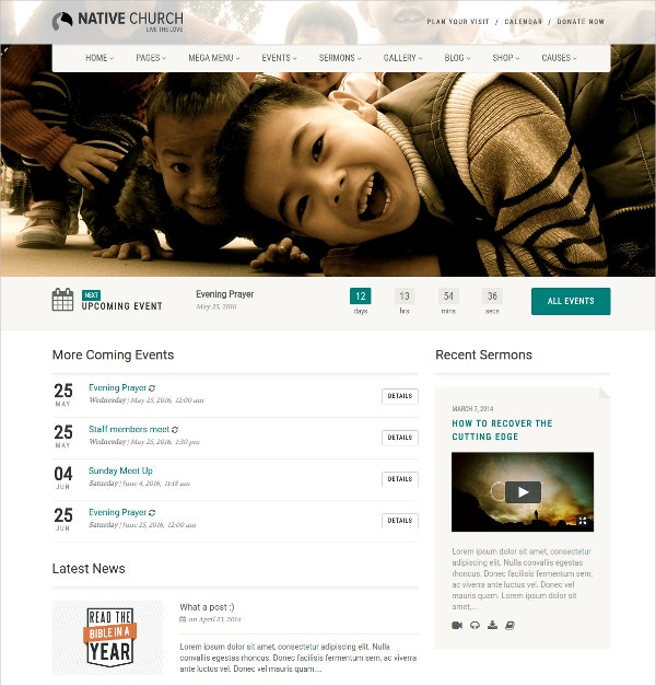 Non Profit And Religious site WordPress Website Theme