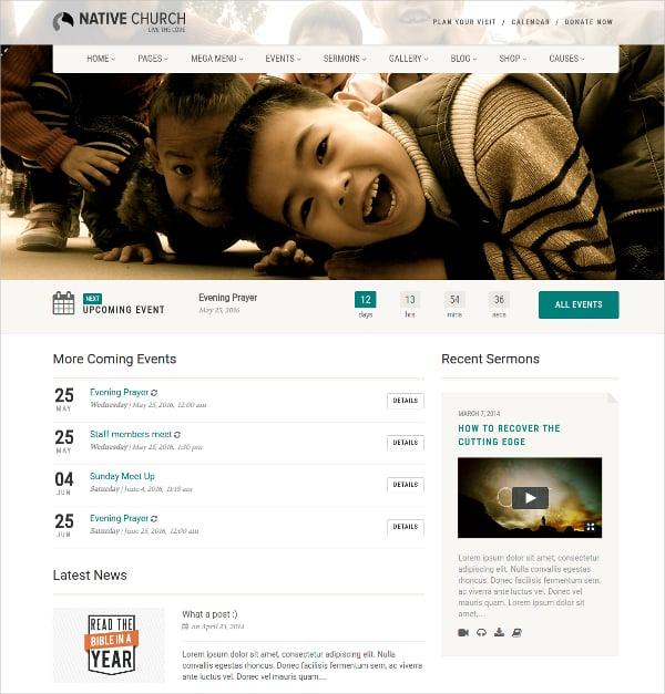 non profit and religious site wordpress website theme