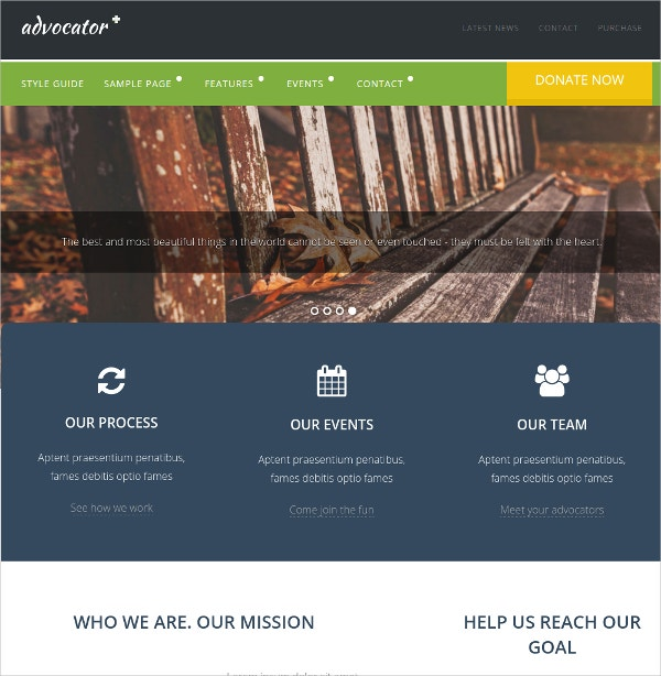 Non Profit , Organization WordPress Website Theme $54