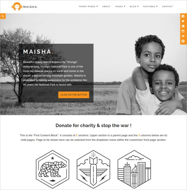 Charity, Non Profit & Foundraising WordPress Theme $64