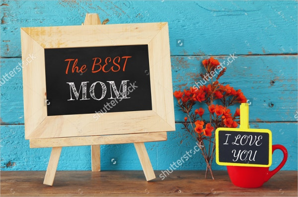 Chalkboard Greeting Card Mockup