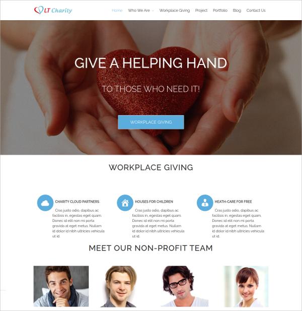 creative charity non profit wordpress theme 29
