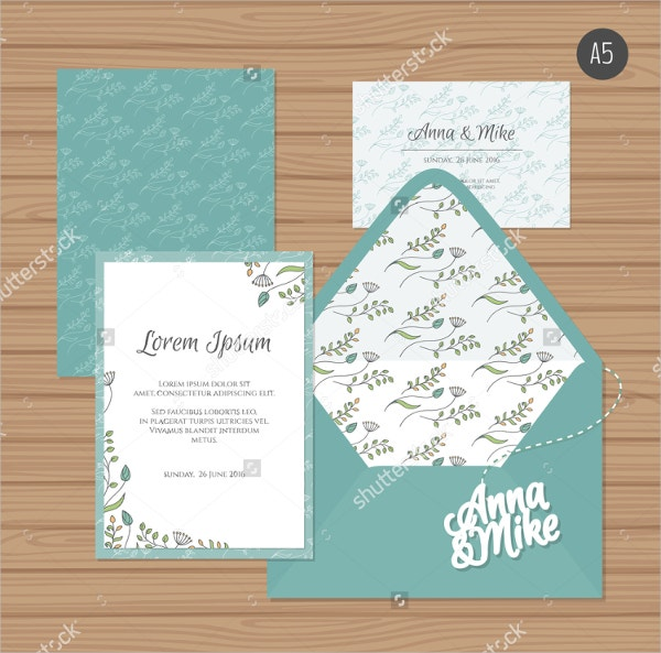 Floral Greeting Card Mockup