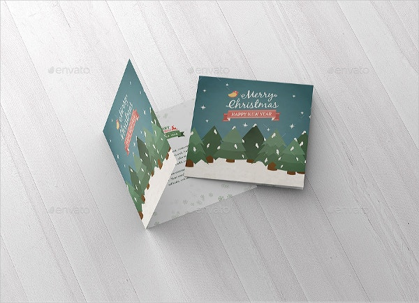 Square Greeting Card Mockup
