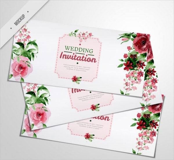 Elegant Wedding Greeting Card Template
