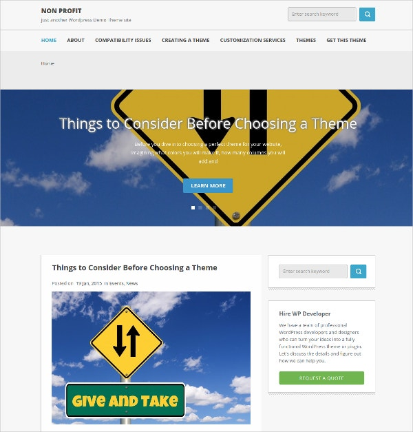 multipurpose non profit wordpress website theme