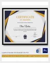 Attractive Any Training Centers That Promote Learning Or Livelihood To Anyone Should  Have Training Certificate Template To Have Their People An Official  Document ... In Official Certificate Template