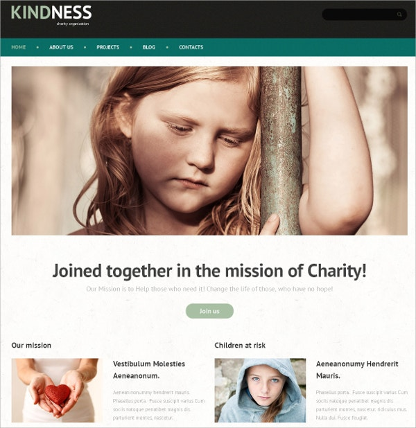 Child Charity & Non Profit Mission WordPress Theme $75