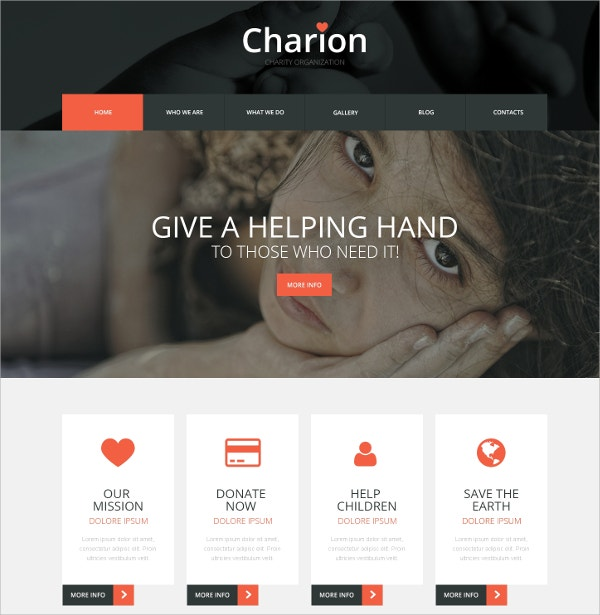 Non Profit & Community WordPress Theme $75