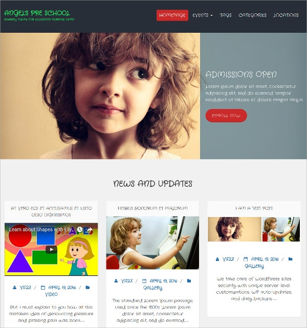 Free Non Profit, Corporate Blog WordPress Theme