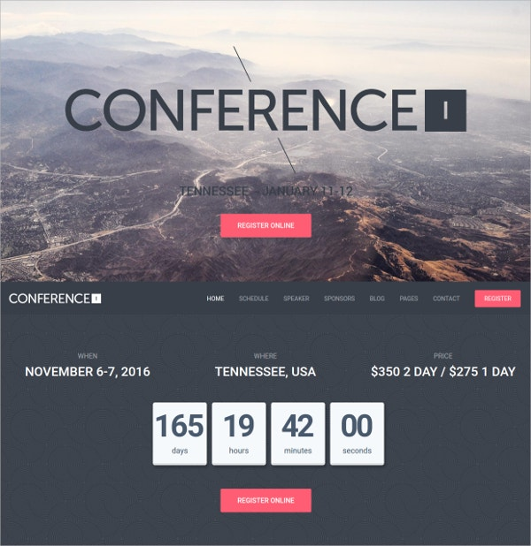 Conference, Non Profit WordPress Theme