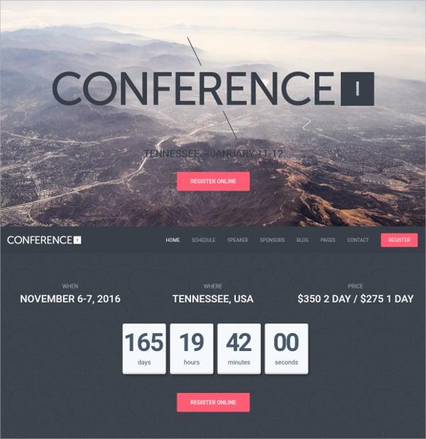 conference non profit wordpress theme
