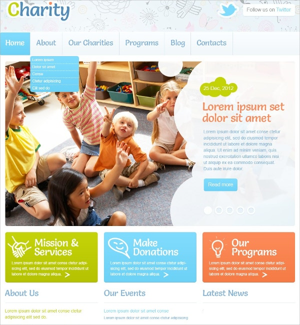 Children Charity & Non Profit WordPress Theme $75