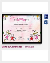 Certificate template 826 free word pdf psd eps format kids that are attending their kindergarten and preparatory years must be given a diploma via preschool certificate template by their teachers as this will yadclub Image collections