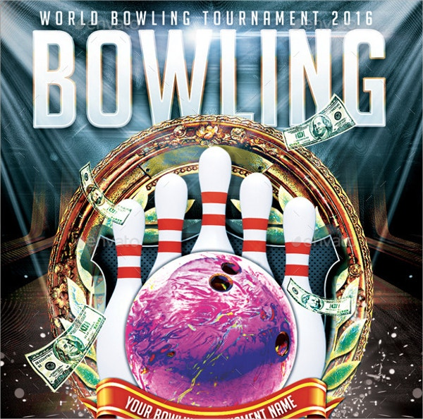 Bowling Tournament Flyer Template  Bowling Flyer Template Free