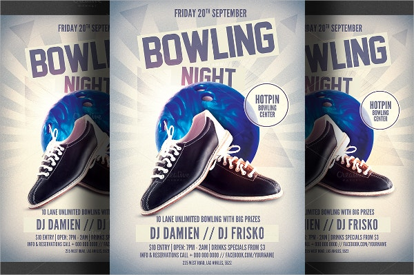 12 Bowling Flyer Templates Free PSD AI Format Download – Bowling Flyer Template