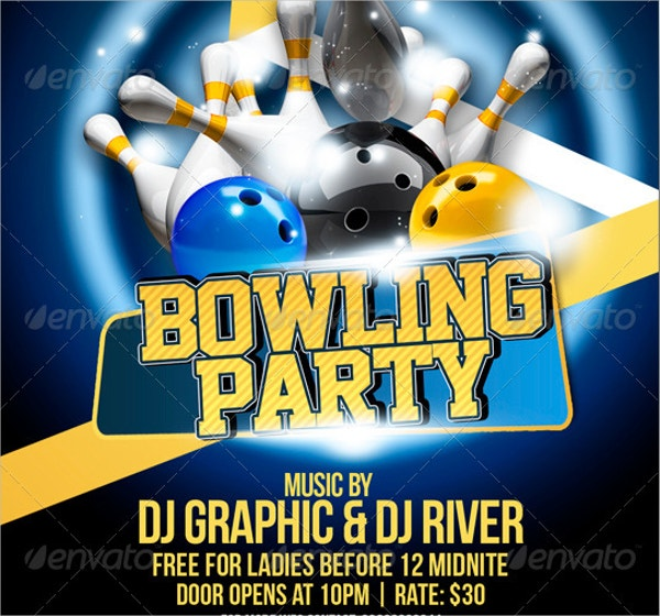 14 bowling flyer templates free psd ai format download free bowling party flyer template pronofoot35fo Images