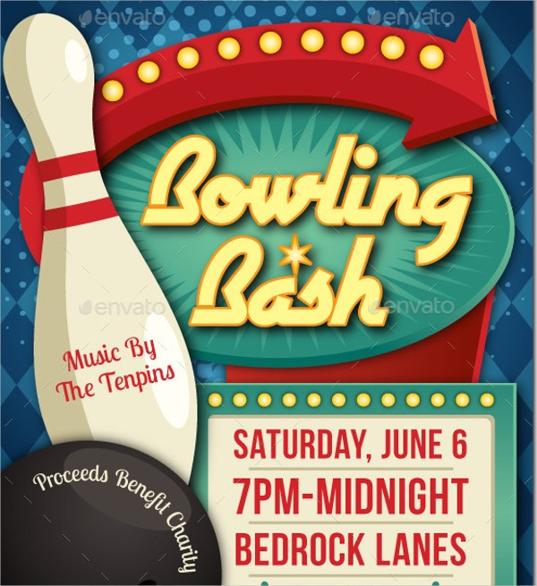 bowling league flyer template