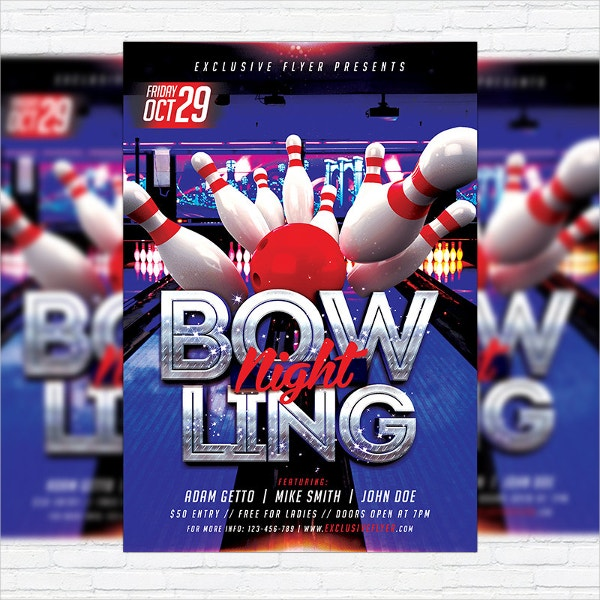 Bowling Match Flyer Template