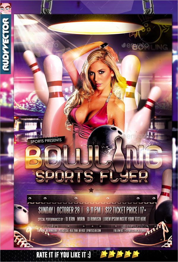 Bowling Sports Flyer