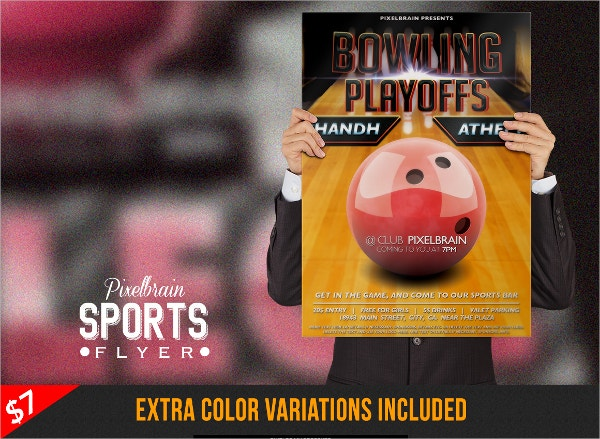 Fun Bowling Flyer  Bowling Flyer Template Free