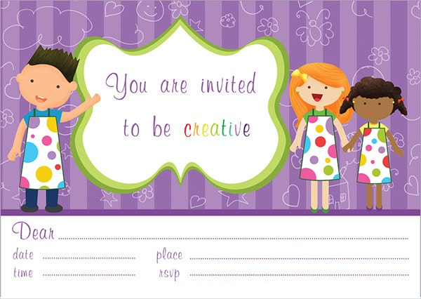 kids soap party invitation1