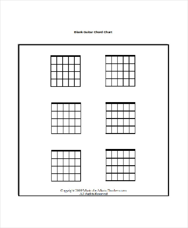 13 Guitar Chord Chart Templates Freesample Example Format